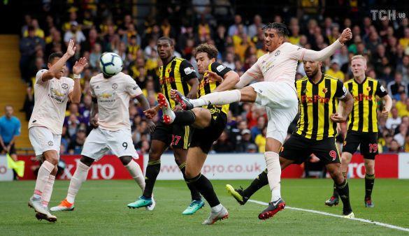 Смоллінг забиває гол, Вотфорд-Манчестер Юнайтед