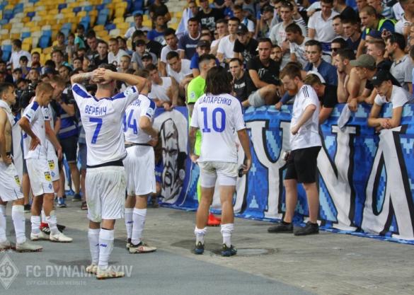Розмова гравців Динамо з фанатами