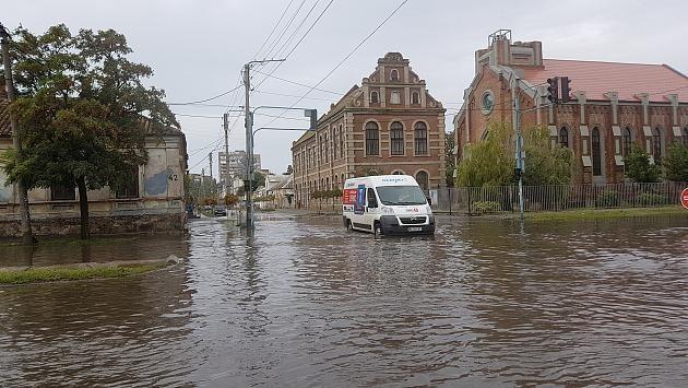 Наслідки зливи у Бердянську