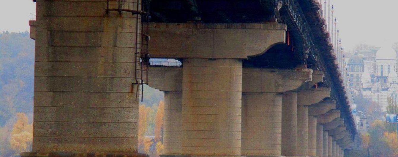 На мосту Патона стався прорив труби під час гідравлічних випробувань