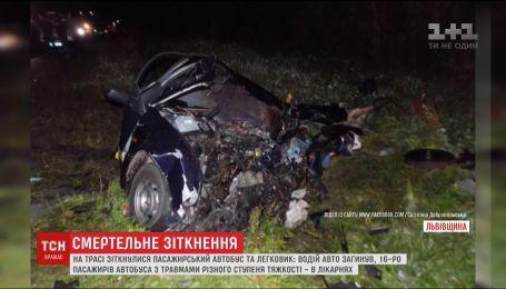 Более десятка пассажиров автобуса попали в больницу после ДТП на Львовщине
