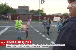 Жителі Ірпеня погрожують перекрити дорогу, якщо у місті не обмежать швидкісний режим
