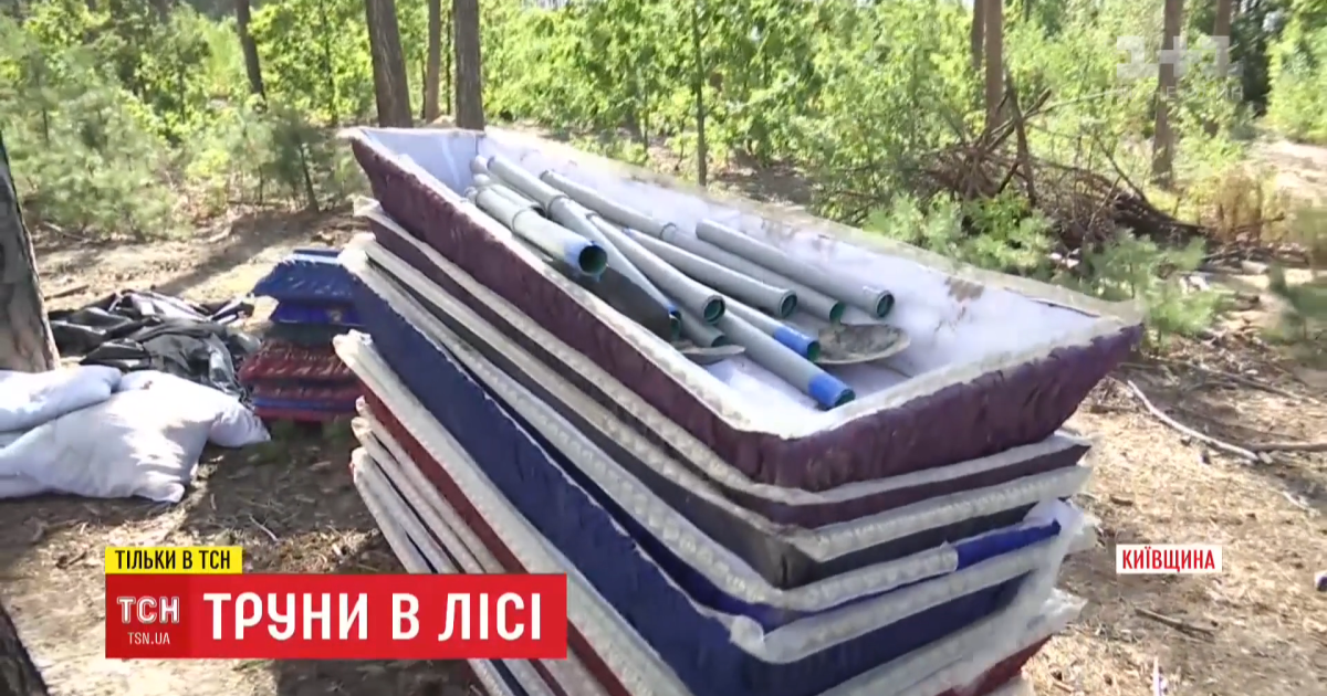 Под Киевом в лесу обнаружили 12 выкопанных могил и 12 пустых гробов