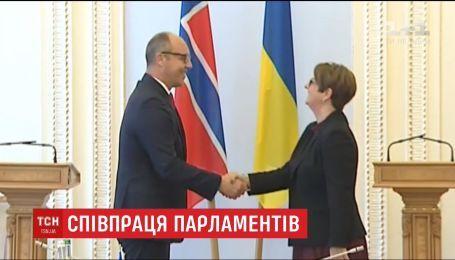 """Парубий призвал главу норвежского парламента не поддерживать """"Северный поток-2"""""""
