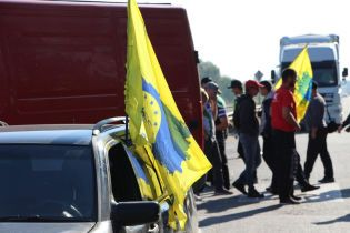 """""""Євробляхери"""" влаштували акцію протесту на кордоні з Білоруссю"""