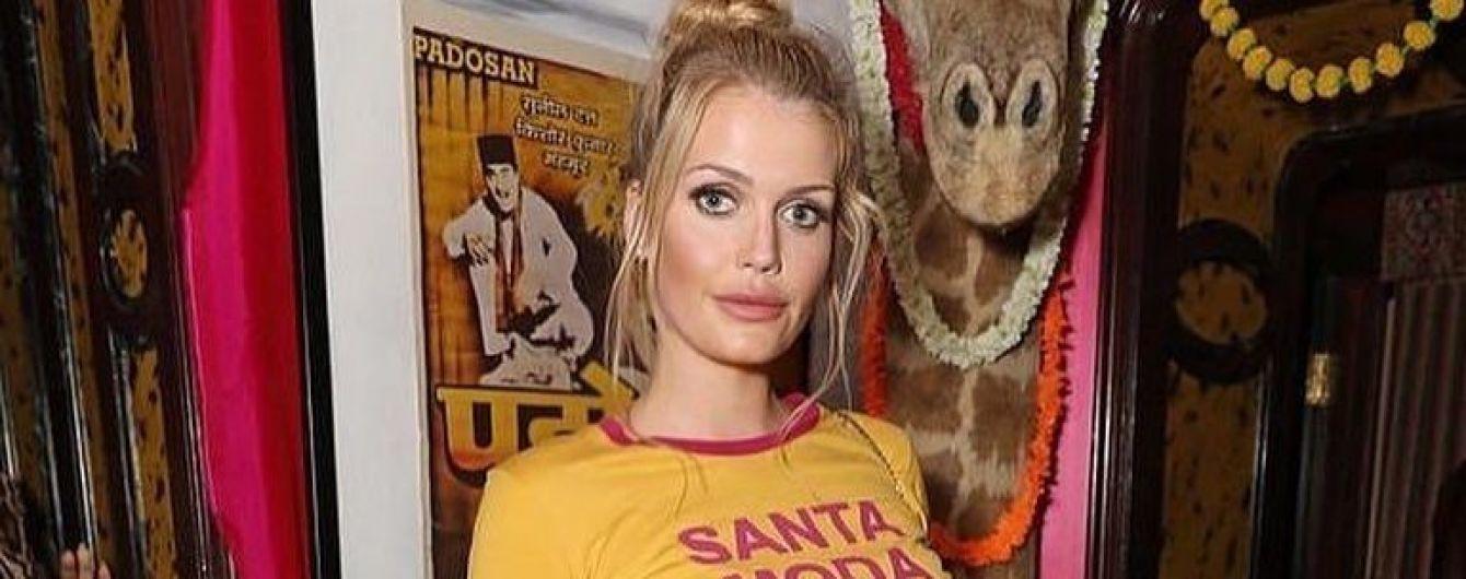 У футболці і спідниці зі шнурівкою: Кітті Спенсер сходила на вечірку