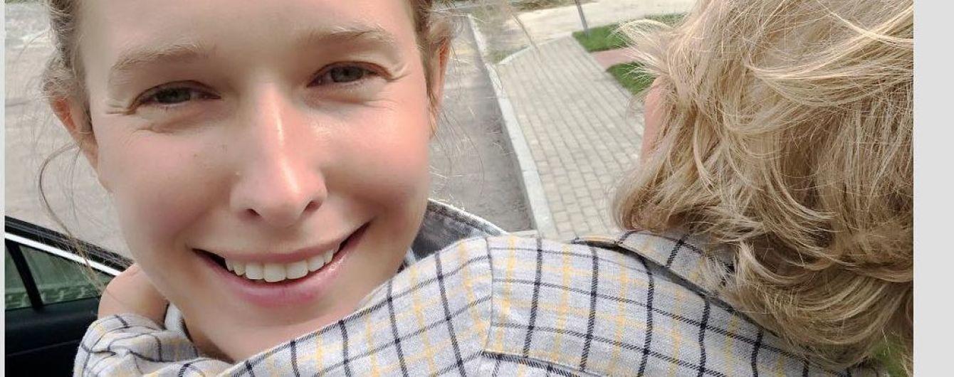 Одинаково одеты: Катя Осадчая показала фото сына с мужем