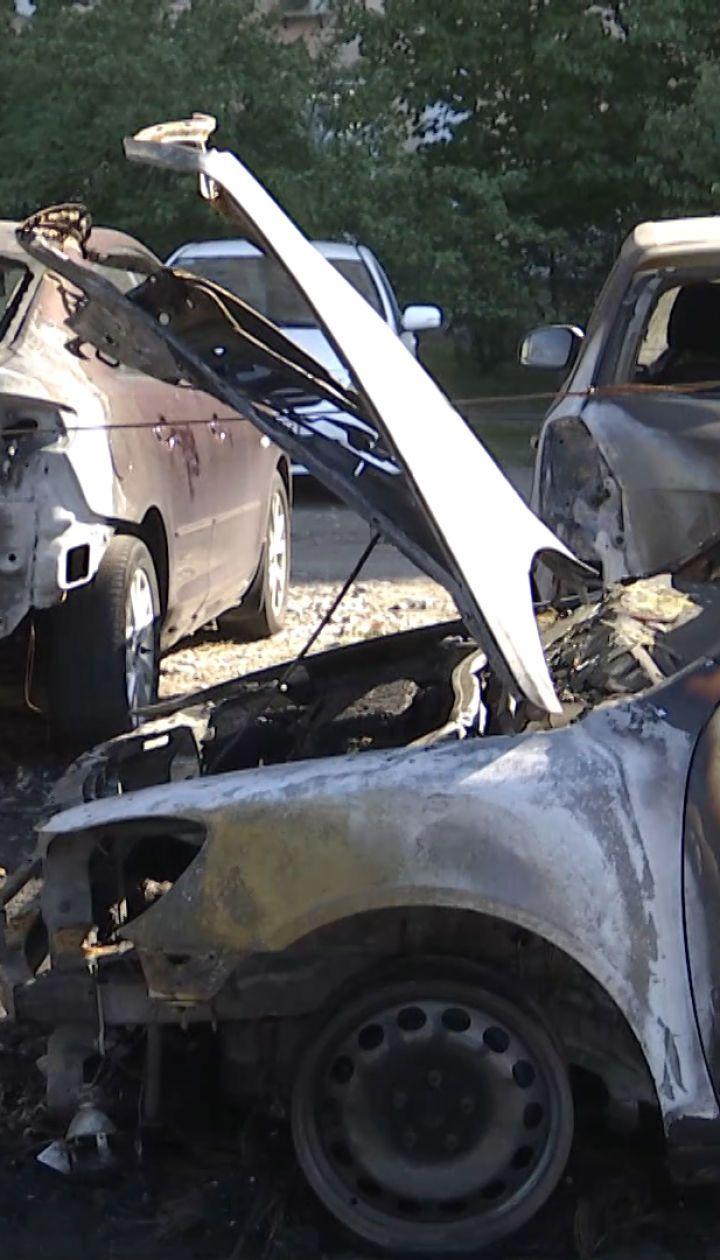 Поджог автомобилей в Киеве: возгорание началось с машины активиста