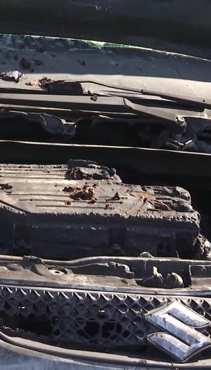 В Киеве ночью сгорели шесть автомобилей