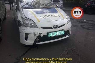 В Киеве патрульный на авто протаранил пять машин