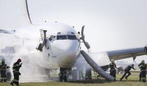 """Пожежа на борту літака і аварійна посадка: в аеропорту """"Бориспіль"""" провели масштабні тренування"""