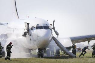 """Пожар на борту самолета и аварийная посадка: в аэропорту """"Борисполь"""" провели масштабные учения"""