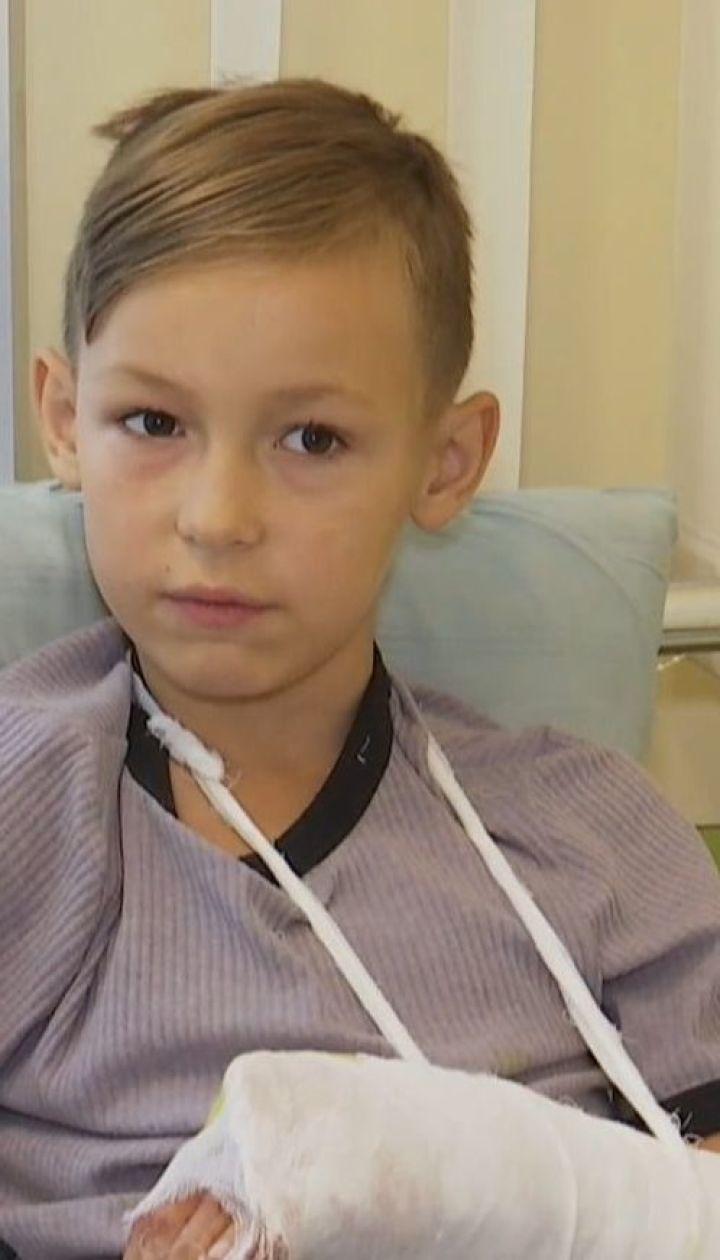 В Тернополе в торгово-развлекательном центре на мальчика упал баллон с газом
