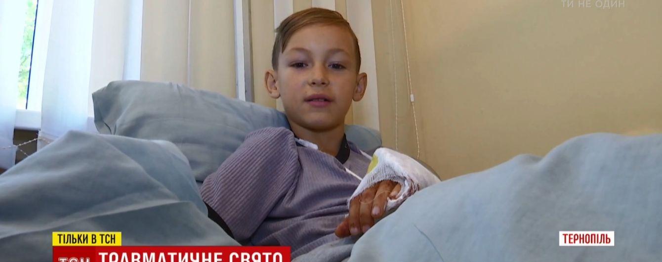 В Тернополе в ТРЦ на ребенка упал баллон с газом
