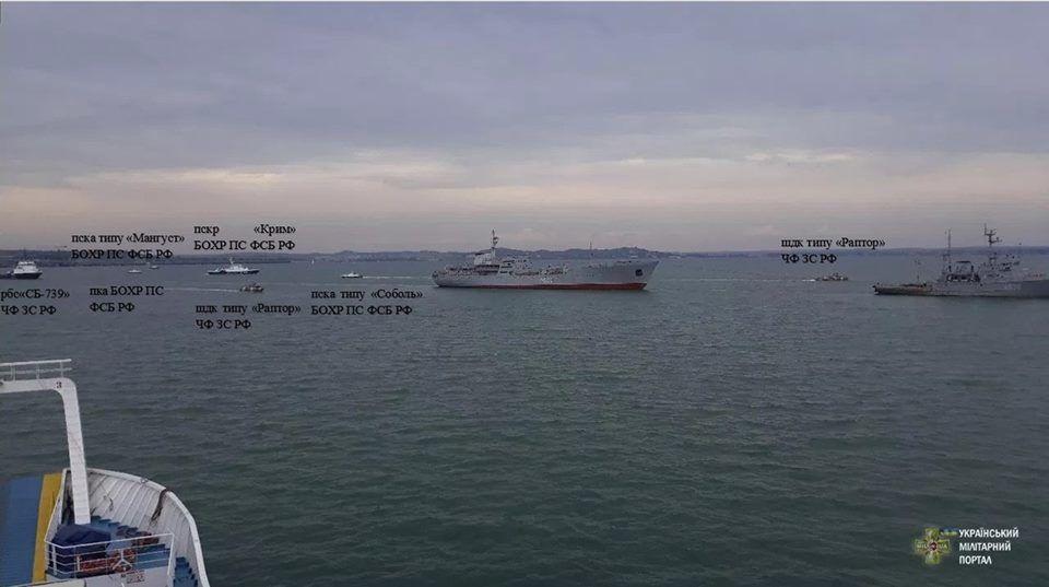 Росіяни перешкоджають українським кораблям Керченська протока_2