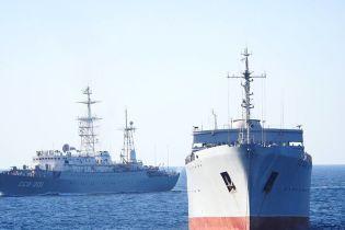 Українські кораблі під час проходження Керченської протоки супроводжували більше 10 російських суден