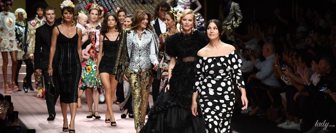 Зірковий склад: Беллуччі, Бруні і Герцигова дефілювали на шоу Dolce & Gabbana