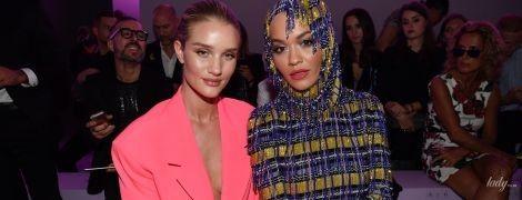 Рози без белья, а Рита Ора в эффектном мини: звезды на показе Versace