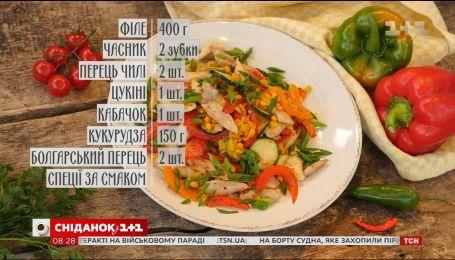 Курка з овочами на пательні - рецепти Сенічкіна