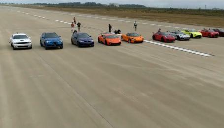 Авторитетне видання влаштувало драг-гонку найдинамічніших суперкарів