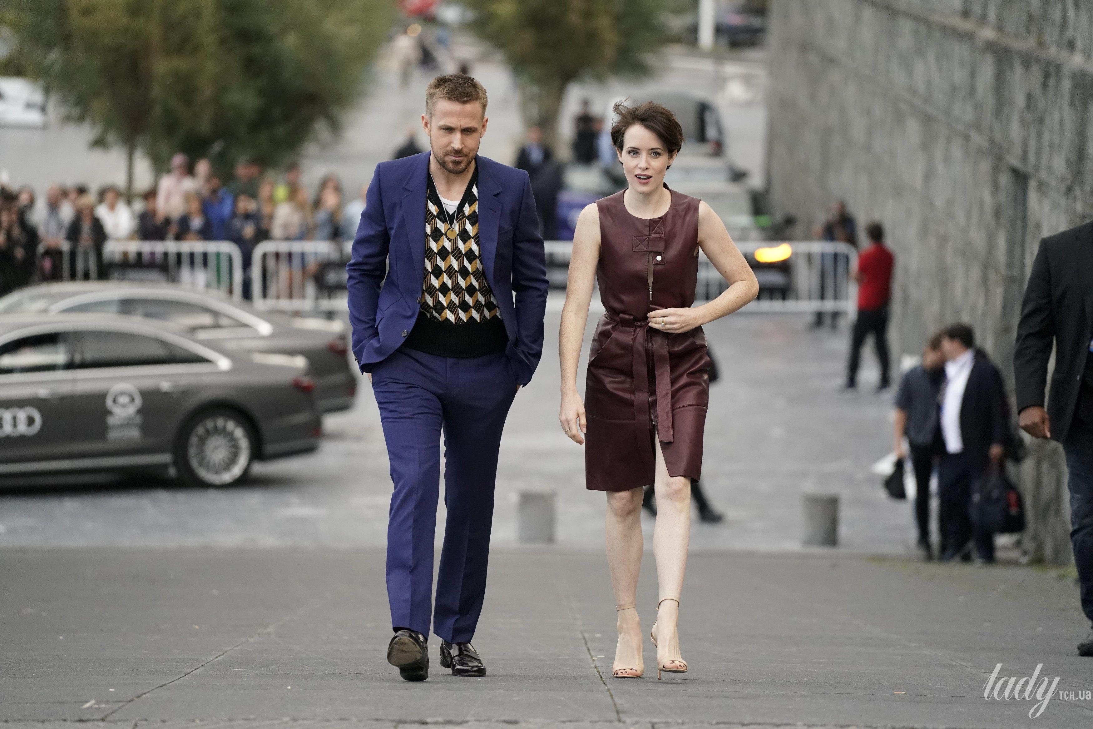Красивая пара: Клер Фой и Райан Гослинг представили на кинофестивале свой новый фильм