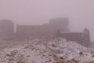 В украинских Карпатах выпал первый снег