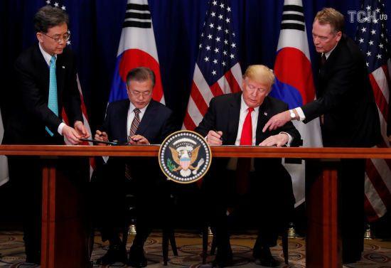 США та Південна Корея підписали угоду про вільну торгівлю