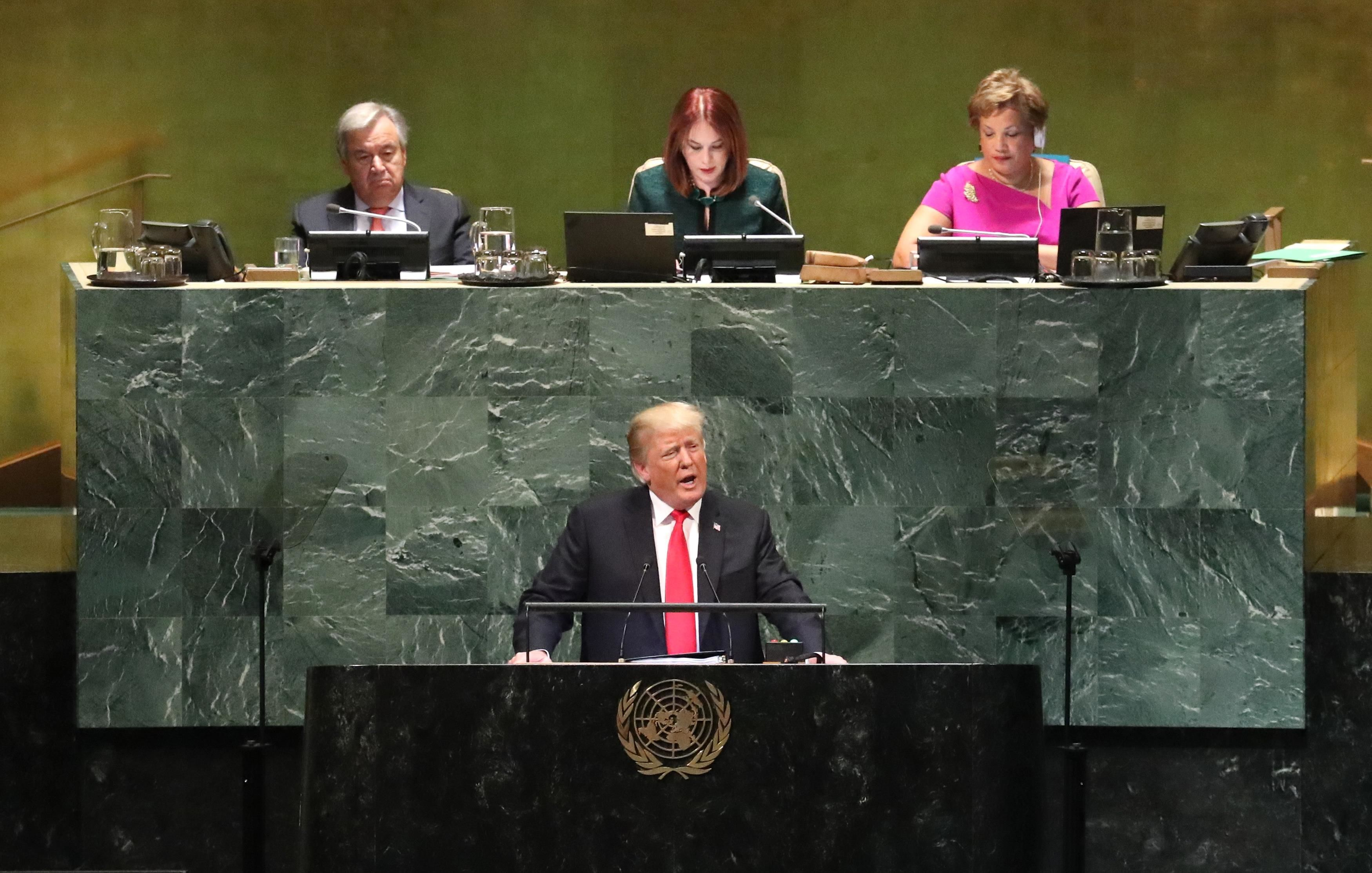 Дональд Трамп, Генасамблея ООН