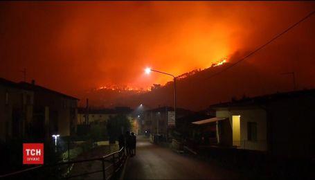 Тоскана в огне. В Италии горят леса неподалеку Пизы