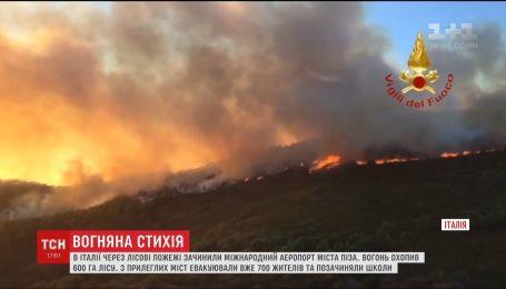 Международный аэропорт Пиза закрыли из-за лесных пожаров