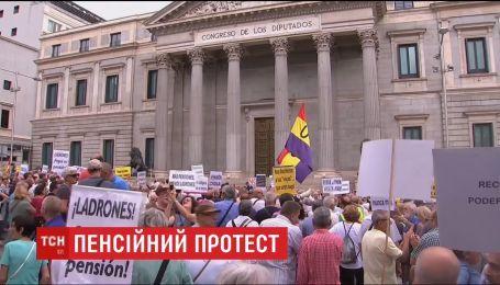 Пенсионный протест по-испански. Сотни людей вышли на улицы Мадрида