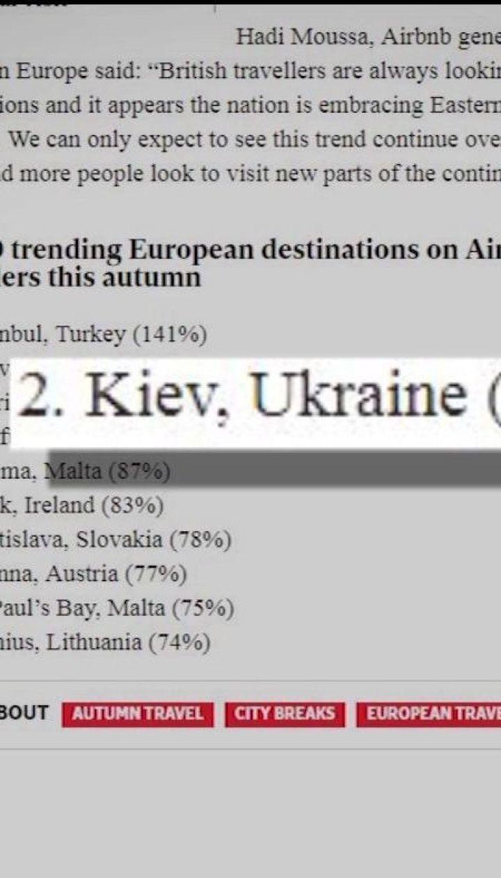 Киев признали популярным осенним направлением для британских туристов