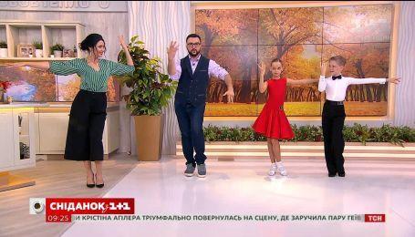 """Юные чемпионы по танцам дали мастер-класс в студии """"Сніданка"""""""
