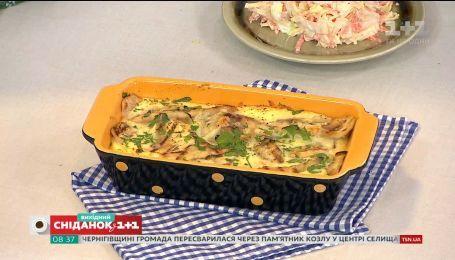 """Рецепт запеканки с баклажанами и салата """"Коул Слоу"""" от Евгения Клопотенка"""