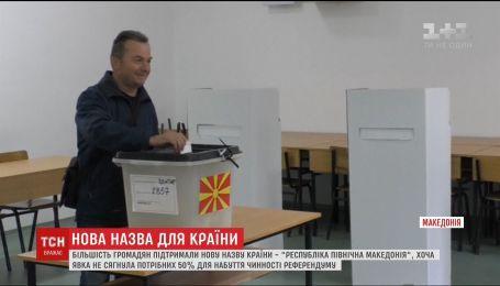 У Македонії громадяни проігнорували всенародне голосування щодо зміни назви країни