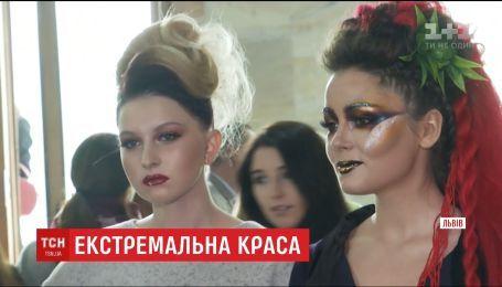 Во Львове провели яркое соревнования среди парикмахеров и визажистов
