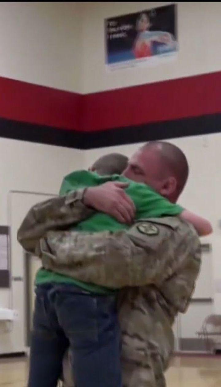 Американский военный устроил сюрприз сыну, вернувшись из передовой в Ираке