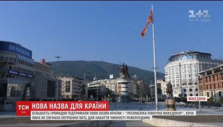 Перейменування Македонії: референдум не відбувся через низьку явку