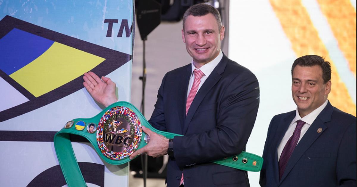 На чемпионском поясе WBC отныне будет красоваться украинский флаг