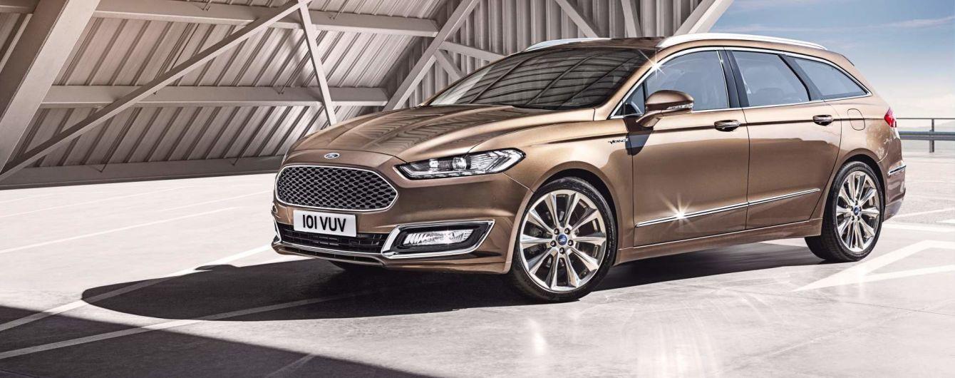 Оновлений Ford Mondeo з`явиться в кузові універсал з гібридним приводом