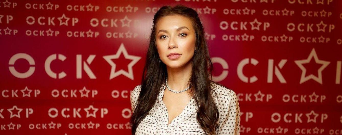 Кінобранч у столиці: Поліна Логунова в блузці в горошок, Аніта Луценко у картатій сорочці
