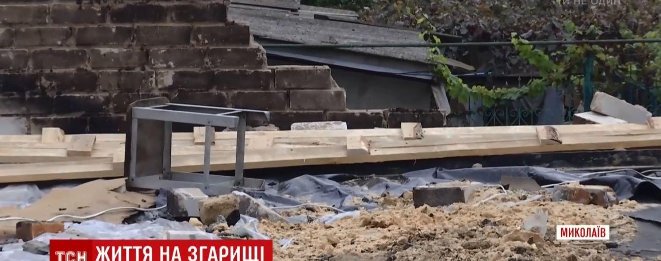Чета 70-летних пенсионеров осталась под открытым небом после пожара в Николаеве
