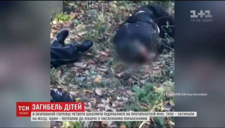 Трое 10-летних ребят подорвались на противопехотной мине рядом с оккупированной Горловкой