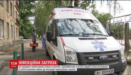 До інфекційного відділення з підозрою на сибірську виразку шпиталізували п'ятеро жителів Одещини