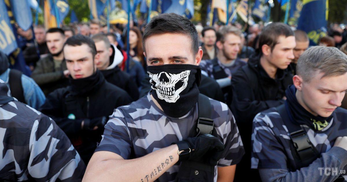 """Акція """"Національного корпусу"""" під Радою @ Reuters"""