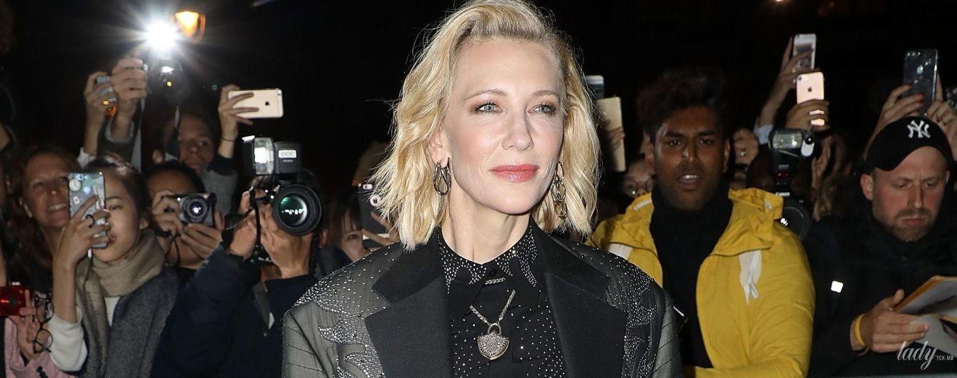 У скінні, човниках і піджаку зі стразами: ефектна Кейт Бланшетт на показі Louis Vuitton