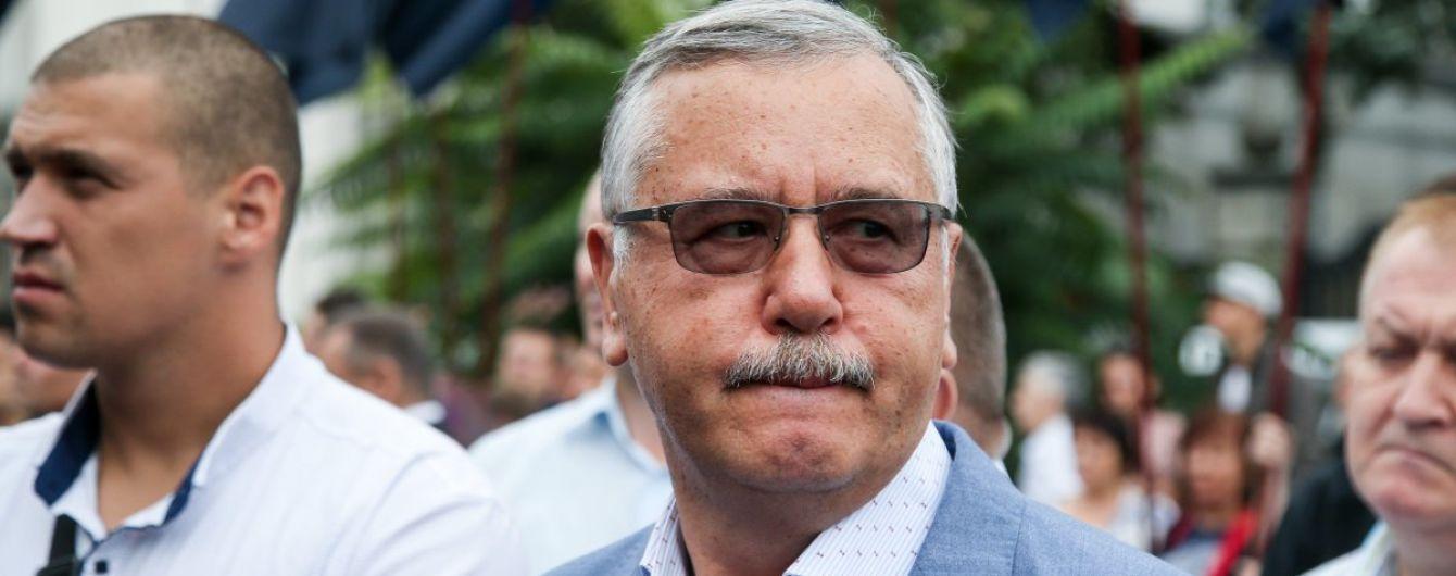 """Гриценко """"кратко"""" прокомментировал желание Садового баллотироваться в президенты"""