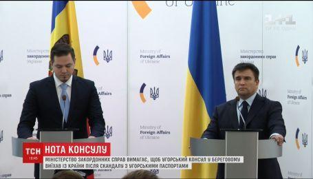 МЗС вимагає, аби угорський консул в Береговому виїхав з України