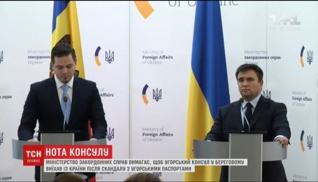 Угорський консул у місті Берегове має виїхати з України - МЗС