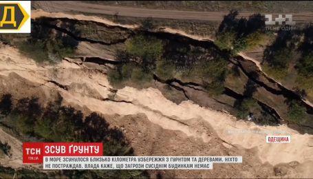 В Одесской области в море сдвинулось около километра побережья с почвой и деревьями